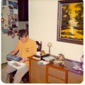 Mike in December 1974. And look, there's our cool console stereo next to him!