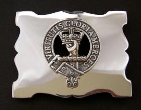 Silver Clan Belt Buckle