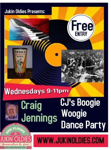 CJ Boogie Woogie Dance Party Wed 9-11