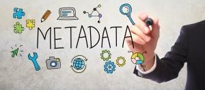 Businessman drawing Metadata concept
