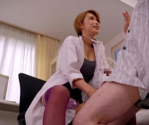 【君島みお】変態女医が、童貞デカチンでグラインド騎乗位!診察室で鬼フェラ勃起させて、ま○こ挿入治療