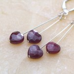 Ruby Heart Love Earrings