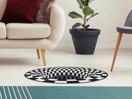 3D gulvtæppe, pakkelegsgaver, gaver til pakkelegen, max 70 kr, 3d tæppe, sjovt gulvtæppe,