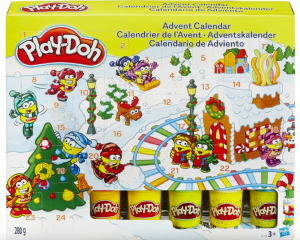 play doh julekalender, Play-doh julekalender, julekalender til børn, julekalender med play doh, julekalender med modelleer, playdoh julekalender, play doh pakkekalender, pakkekalender med play doh