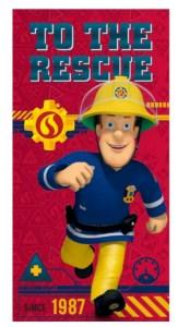 Brandman Sam Håndklæde, håndklæde med Brandmand Sam, Gaver til børn og børnebørn, håndklæder til børn