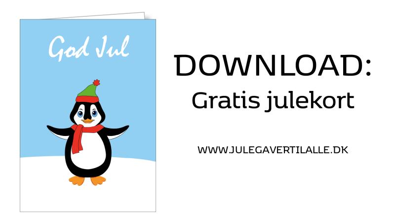 print selv julekort, print selv julepynt, gratis julekort, julekort, download gratis julekort, julekort med pingvin, skabelon til julehjerter,