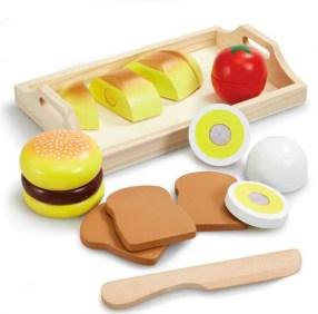 legemad, legemad burger, legetøjs burger, legetøj til under 100 kr, gaver til børn under 100 kr, Gaver til 2-årige piger