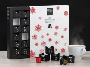 kaffe julekalender, julekalender med kaffe, kaffe kapsel julekalender, julekalender til voksne, voksen julekalender