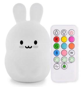 Natlamper til børn, baby natlamper, natlampe med kanin, kanin natlampe,