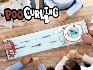 Poo Curling Spil, Curling Spil, mandelgave, sjov mandelgave