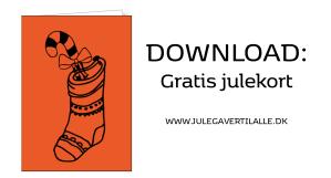 julekort, gratis julekort, gratis julepynt, print selv julepynt, download julekort