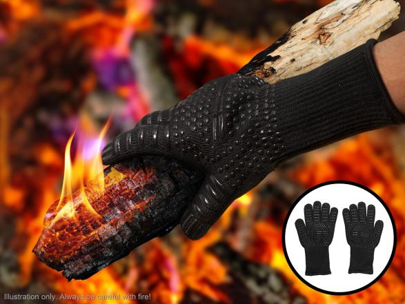 Varmebestandige Grillhandsker, grillhandsker til grillmesteren, gaver til grillmesteren, grillmester gaver, julegaver til ham, Varmebestandige handsker