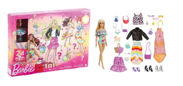 Barbie julekalender, julekalender med barbie, Julekalender til piger 2021, bedste julekalendere til piger 2021,