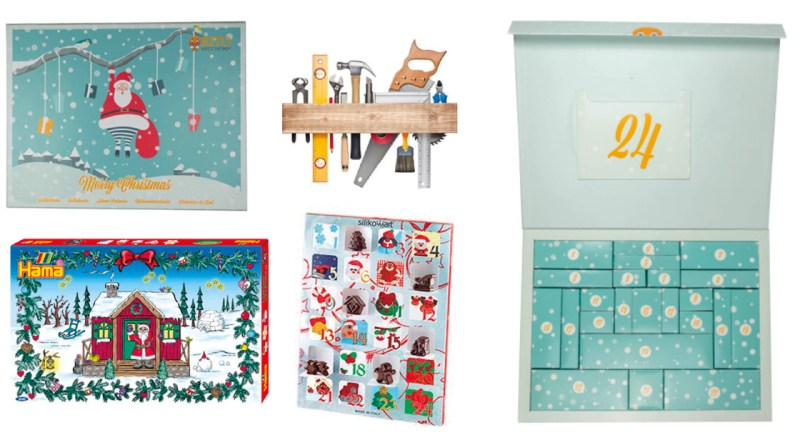 Kreative julekalendere 2021, gør det selv julekaelnder, julekalender med garn, 2021 kreativ julekalender, lav din egen chokolade julekalender, strikkejulekalender, voksen julekalender, strikke julekalender, hækle julekalender