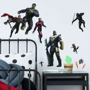 Avengers wallstickers, wallstickers til børneværelset, wallstickers med Avengers, gaver til 3-årige drenge,
