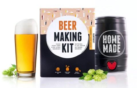 Brewbarrel Bryg Din Egen Øl, Hjemmelavet øl, minibryggeri til hjemmelavet øl, Far gaver, gaver til far