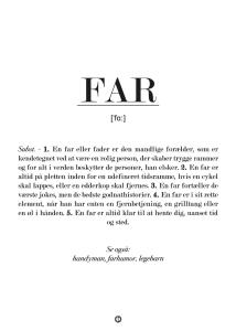 Plakat til Far, far plakat, Plakat med Far defination, gaver til far