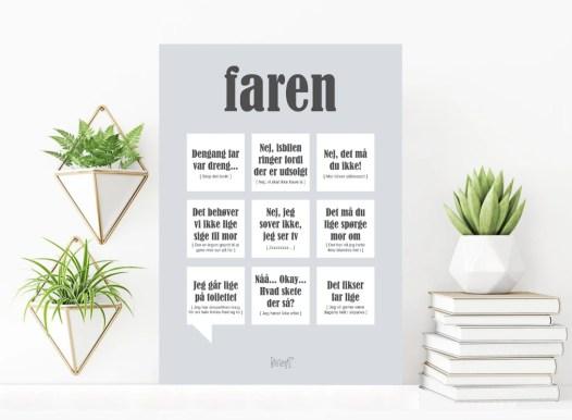 Plakat til Far, far plakat, Plakat med Far defination, gaver til far, Faren plakat