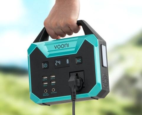 Vooni Portable Power Station, powerbank til stik, Vooni, Mobil power station, gaver til far, far gaver