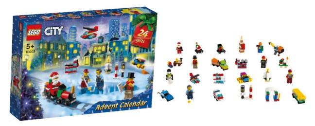 Lego city julekalender 2021, Lego julekalender, julekalender med Lego, juleklalender til børn, legetøjsjulekalender 2021, Lego city 2021