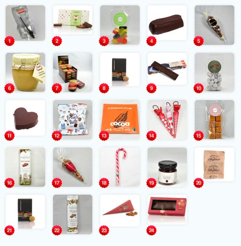 voknsen julekalender med slik, pakkekalender til den søde tand, slik julekalender til voksne, chokolade julekalender til voksne, voksen adventskalender med slik 2021, julekalender til voksne 2021