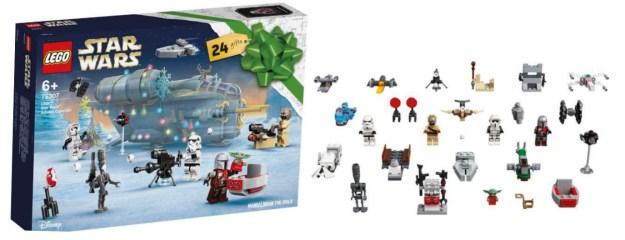 Star Wars julekalender 2021, LEGO star wars julekalener 2021, julekalender for 2021 med LEGO Star Wars, Julekalender til drenge, 2021 legetøjsjulekalender