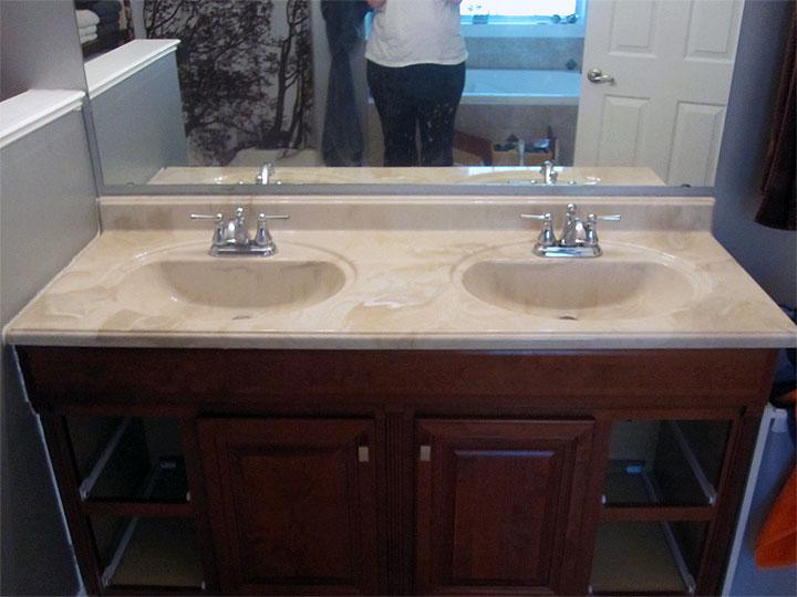 Refinishing the Bathroom Vanity Top Part 1 JulepStyle