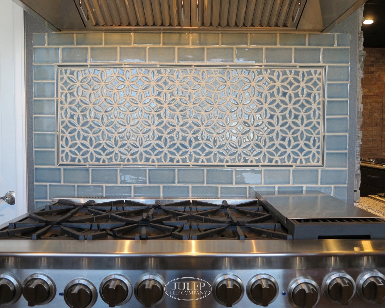 use decorative tile behind your stove
