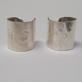 Eco Silver Stamped or Hammered Ear cuff £20.00