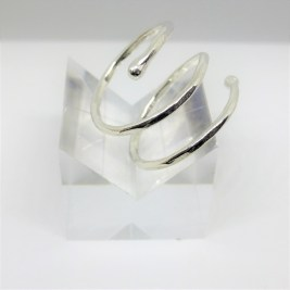Silver Coil Ring Adjustable