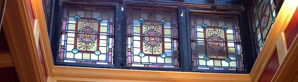 Palace Bar, stained glass detail
