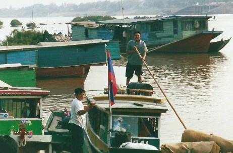 At the harbour, Mekong River, Laos