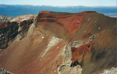 Up to the crater on the Tongariro Crossing