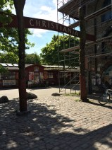 Entrance to Freetown Christiania, a commune created in a squatted military area in 1971