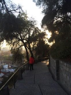 The 'Cerro San Cristóbal', a beautiful park overlooking the city