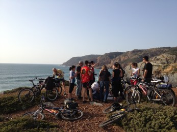 Cycling with friends in Guincho, 30km north of Lisbon
