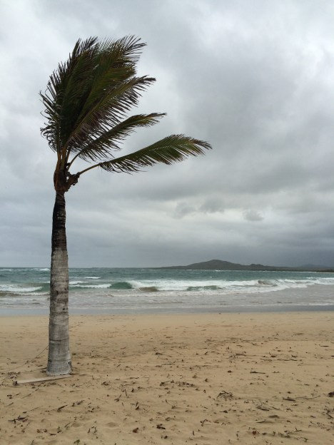An overcast and windy (but hot) afternoon in Isabela