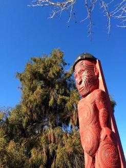 A Māori sculpture in Rotorua