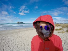Waikato beach was too cold for anything except...