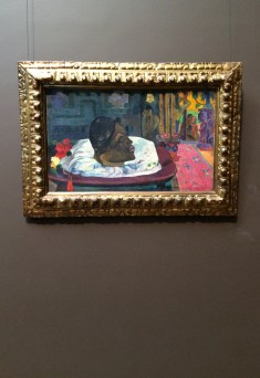 Paul Gaugin's 'The Royal End' (we were lucky enough to see Gaugin's 'When will you marry?' in Basel before it was sold for 300$ million, so this one was a bit of a letdown)