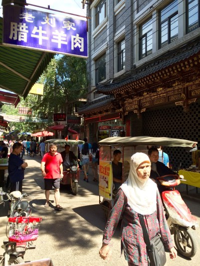 The Muslim Quarter is home to some of the 20+ million Chinese Muslims (roughly 2% of the population)