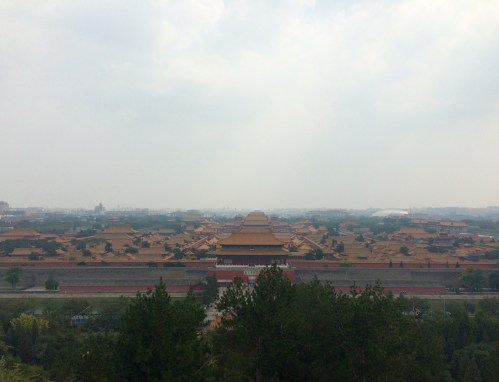The Forbidden City is huge. This photo was taken for the top of Jingshan Park