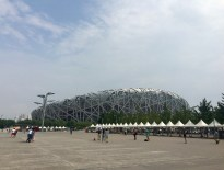Beijing National Stadium, a.k.a. 'The Bird's nest'. Google for some night pictures, they're incredible!