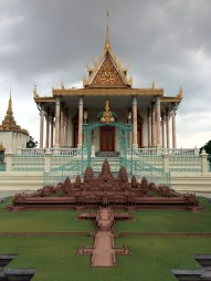 Its major attraction is the Silver Pagoda (in the background of the Angkor Wat miniature), which has a floor made of silver tiles