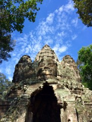 From Angkor Thom's five entrances, the North Gate is probably one the best conserved