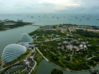 The view of the Gardens by the Bay is breathtaking (photo credits: Rossana Santos)