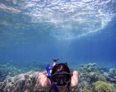 Get out of the way Jules, I'm trying to photograph the reef!