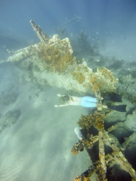 Verne goofing around the Japanese wreck