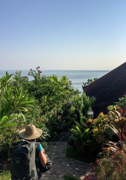 Leaving our guesthouse in Amed, Bali
