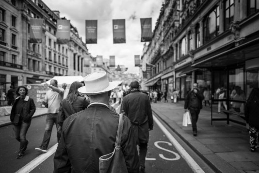 Car-free Regent Street on a Saturday morning, London, UK (16mm, 1/5400s, f1.4, ISO 200)